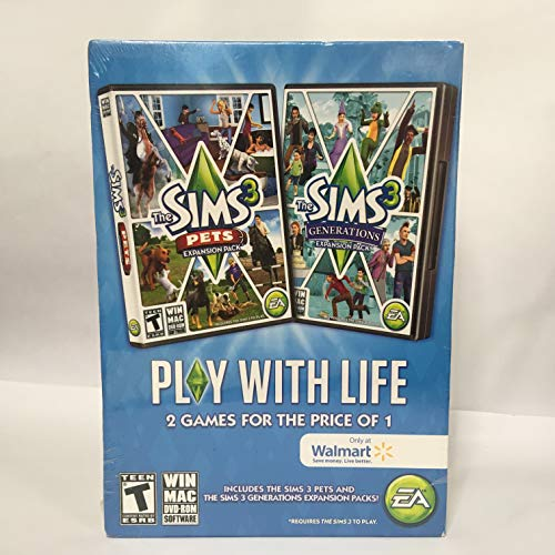 The Sims 3 Pets and Generations Expansion Pack 2 in 1 - PC
