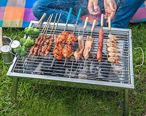 SADDPA 40x28x21cm BBQ Barbecue charbon Portable pliant en acier inoxydable Poêle Camp extérieur pliable sain et sécuritaire support solide (Size : A)