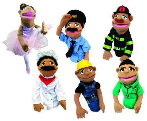 Melissa and Doug Community Characters Puppets - Set of 6 (Walter The Puppet)