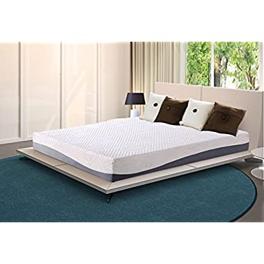 Olee Sleep 10 Inch Gel Infused Layer Top Memory Foam Mattress Grey (Twin) 10FM02T