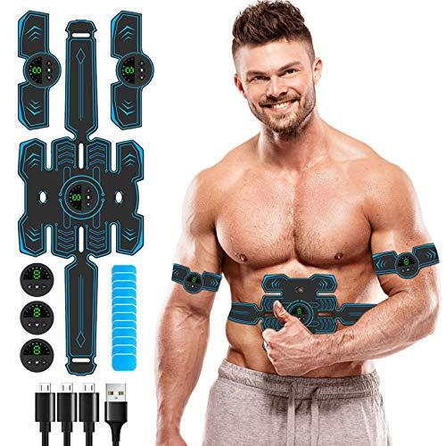 Innocareer Abs Stimulator, 2021 Newest Muscle Stimulator Belt Abdominal Training Device for Building Abdomen Arms Shoulder Back Waist Leg Hip Muscles, Ultimate Muscle Toner for Women & Men