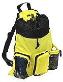 Adoretex Big Mesh Equipment Sport Drawstring Gym Swim Bag - UMB001 - Yellow