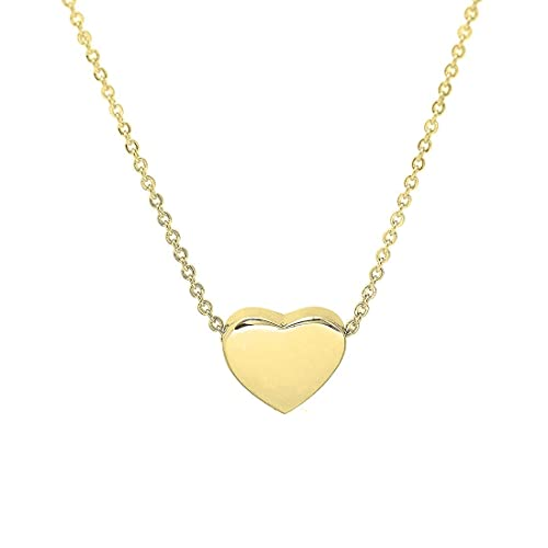 f442806be6 KUIYAI Tiny Heart Necklace Simple Charm Pendant Choker Gift for Women (Gold)