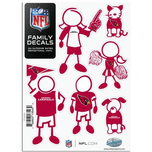 Siskiyou NFL Arizona Cardinals Small Family Decal Set -