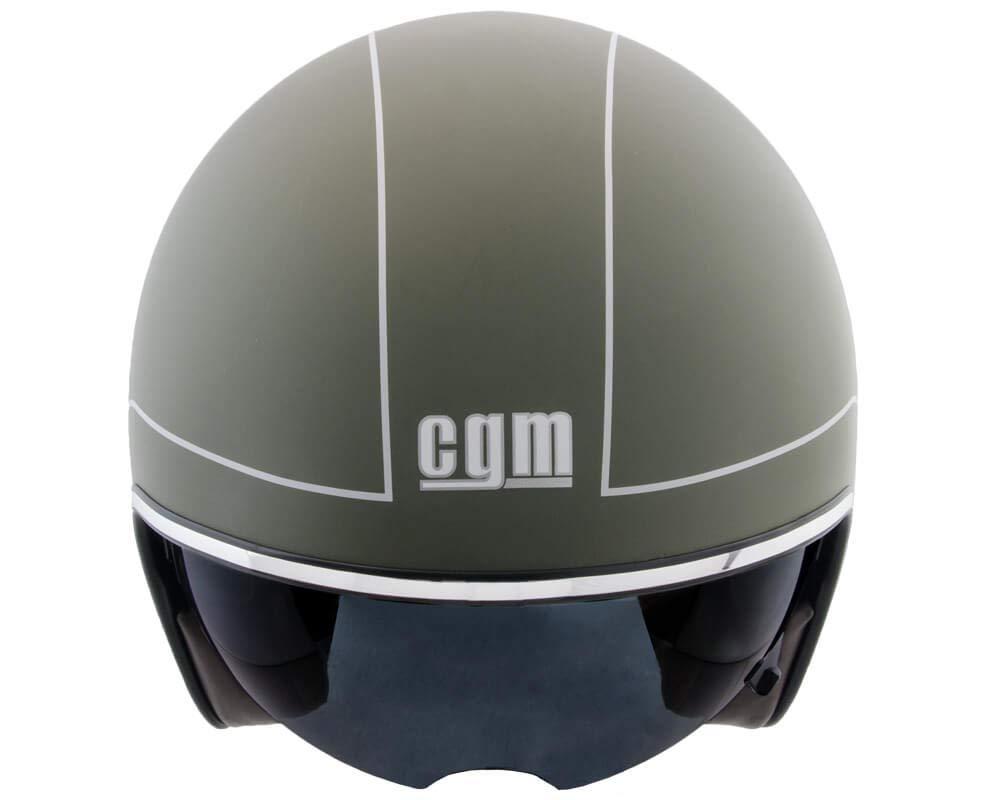 Verde opaco CGM Casco jet moto scooter 59-60cm Unisex adulto L