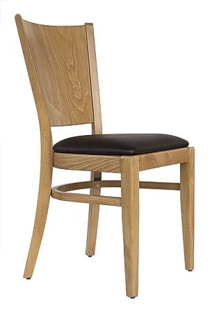 Set 2 Stuhle Esszimmerstuhl Buche Massivholz Honig Eiche Gepolstert