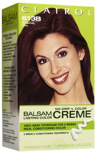 Clairol Balsam Lasting Color Creme Hair Color-Burgundy (6...