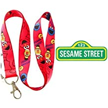 "Sesame Street Elmo 19"" Red Lanyard Auto ID Badge Holder/Key Chain from Outlander Gear"