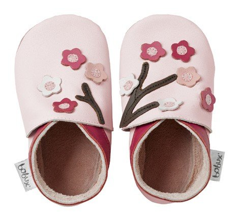 Bobux Leather Baby Shoes - Multiflower Pink - Medium 9-15 Months ()