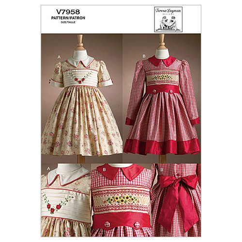 Amazon Vogue Patterns V6000 Children's Dress Size CG 6000600600X Simple Children's Clothing Patterns