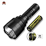 Nitecore P30 LED Torch – Super Bright 1000 Lumens 618m Throw IPX8 Waterproof [ USB Rechargeable Battery Included ]