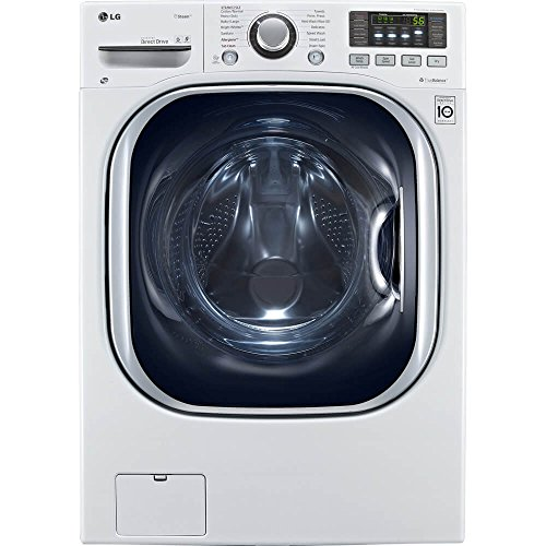 LG WM3997HWA Ventless 4.3 Cu. Ft. Capacity Steam Washer/Dryer Combination with TurboWash, TrueBalance Anti-Vibration System, NeveRust Stainless Steel Drum, Allergiene Cycle in White