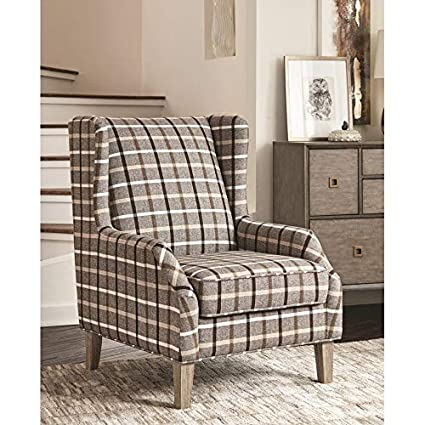 Admirable Amazon Com Cdecor Alberni Fabric Rustic Plaid Accent Chair Gmtry Best Dining Table And Chair Ideas Images Gmtryco