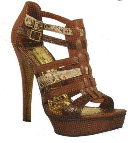 Anne Michelle Allacciate Cinturini Alla Caviglia Pompe Assassin-05 Rosso O Cammello Cammello / Tan
