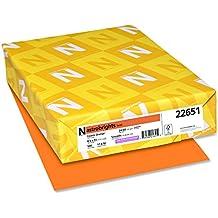 "Astrobrights Color Paper, 8.5"" x 11"", 24 lb/89 gsm, Cosmic Orange, 500 Sheets (22651)"