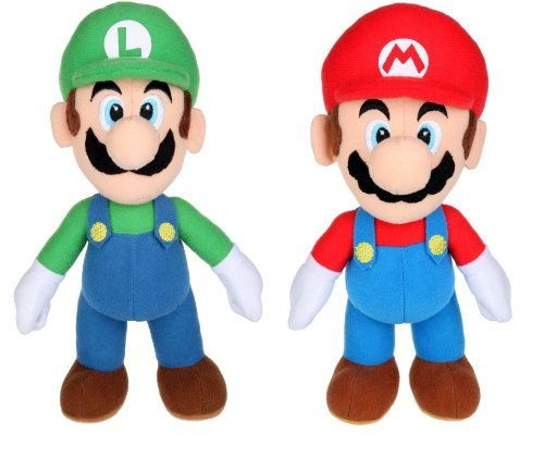 Nintendo Super Mario Bros. Mario and Luigi 6'' Toy Plush by Nintendo