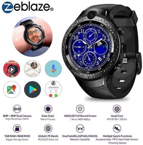 mollylover Zeblaze Thor 4 Reloj Doble Inteligente, 4G GPS WiFi ...