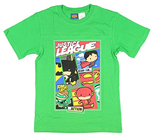 Justice Design Fan (Justice League Ready For Action Boys Shirt)