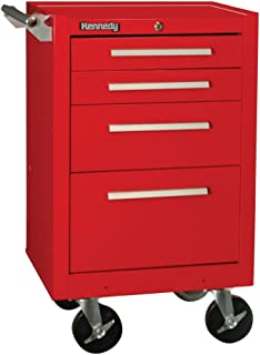 """product image for Kennedy Manufacturing 21040R 21"""" 4-Drawer Industrial Roller Cabinet, Industrial Red"""
