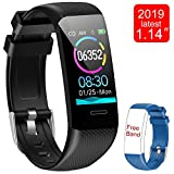 Fitness Tracker Watch, Activity Tracker with Heart Rate Monitor, 1.14 Inch Color Screen
