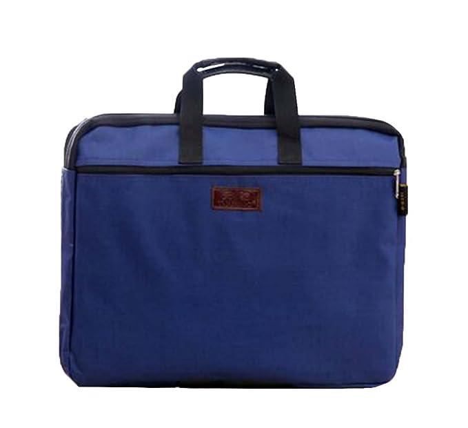 fcf2056c6c Borsa per documenti portatile Borsa con cerniera Borsa per documenti a più  strati, blu-2: Amazon.it: Cancelleria e prodotti per ufficio