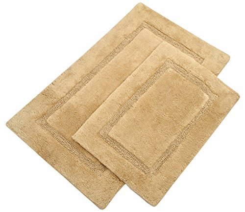 TreeWool,  Bathroom Rug Set with Latex Sprayed Backing, Non