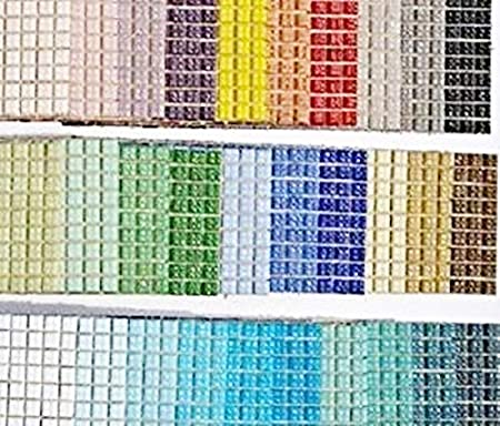 soothing ideas 540 pack glass mosaic tiles 1x1cm venetian glass