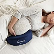hiccapop Pregnancy Pillow Wedge for Maternity | Memory Foam Pillows Support Body, Belly, Back, Knees (Navy Blue)