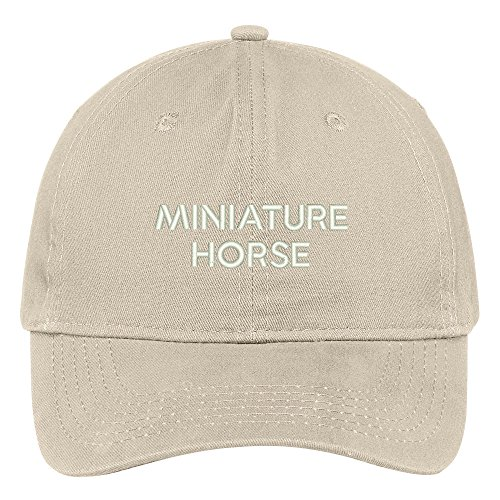 Trendy Apparel Shop Miniature Horse Breed Embroidered Dad Hat Adjustable Cotton Baseball Cap - Stone