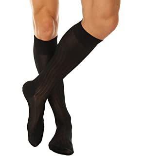e0c582a60e194 Pantherella Asberley Silk Blend Over the Calf Mens Formal Dress Socks