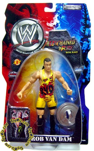 WWE Wrestling Unchained Fury Series 5 Action Figure RVD Rob Van Dam by AFLOT-TOY-ROBVNDM-039897910871-N
