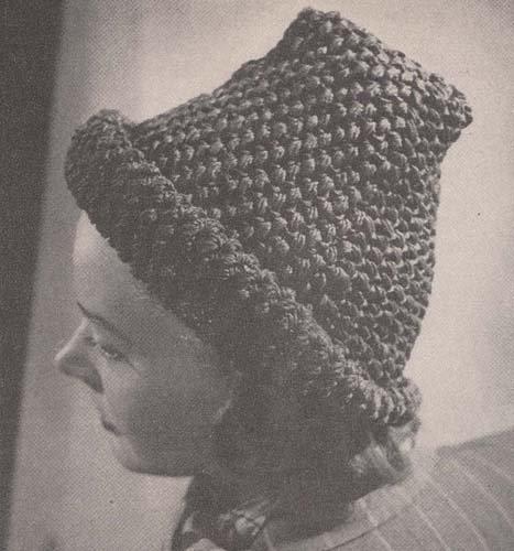 Crocheted Roll-Brimmed Hat Cap Crochet Pattern