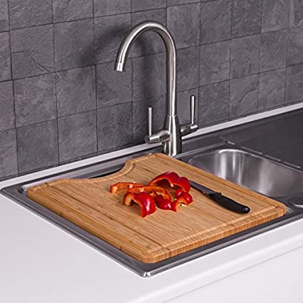 Over Kitchen Sink Bamboo Cutting Chopping Board Wooden Solid ...