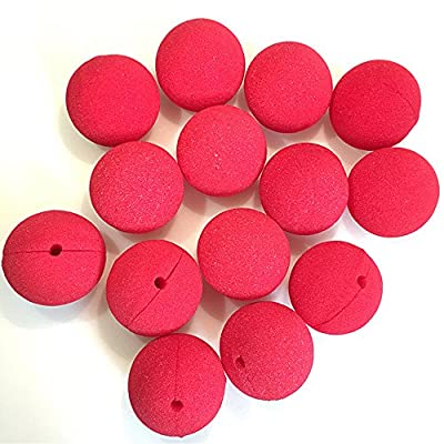 YPY 25PCS Foam Clown Nose Circus Party Halloween Costume Cosplay & More Red Nose (Red): Toys & Games