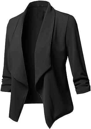 RISTHY Trajes Chaqueta Mujer Blazer Mangas Largas Primavera Invierno Abrigo Color Sólido Cardigan de Oficina Casual Traje de Chaqueta Negocio Tallas ...