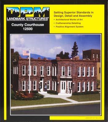 Dpm Building Scale Ho - DESIGN PRESERVATION MODELS HO KIT DPM County Courthouse