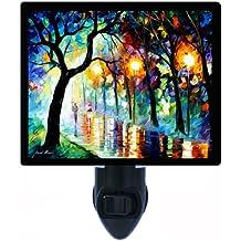 Lanscape Night Light - Dark Night - Painting - Trees