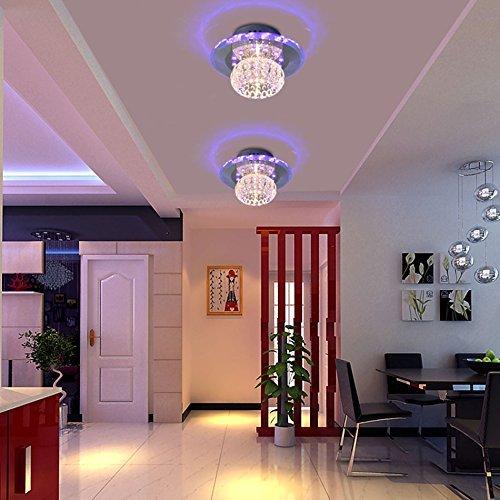Moderne LED-Deckenleuchte Kristall Kronleuchter Kanal Balkon Licht (4 Farben) BeleuchtungsKörper