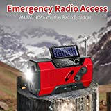 Emergency Radio, Solar Hand Crank AM/FM/NOAA