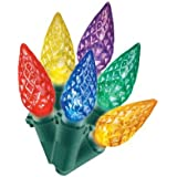 Philips Multi Color Faceted C6 60 ct. LED String Lights - Green Wire