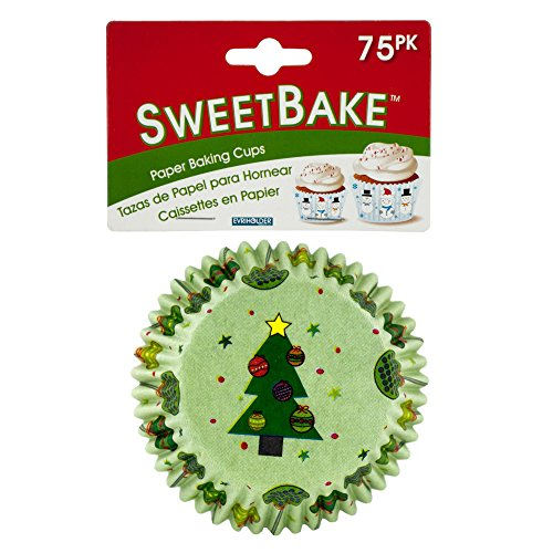 Bulk Buys Sweetbake Holiday Paper Baking Cups Pack Of 48 HW975