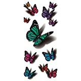 wild arms d arts - COKOHAPPY Temporary Tattoo , 3D Flying Butterfly