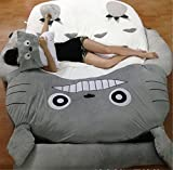 HOT SALE Children's and Adult Totoro Design Big Sofa Totoro Bed Mattress Sleeping Bag Mattress