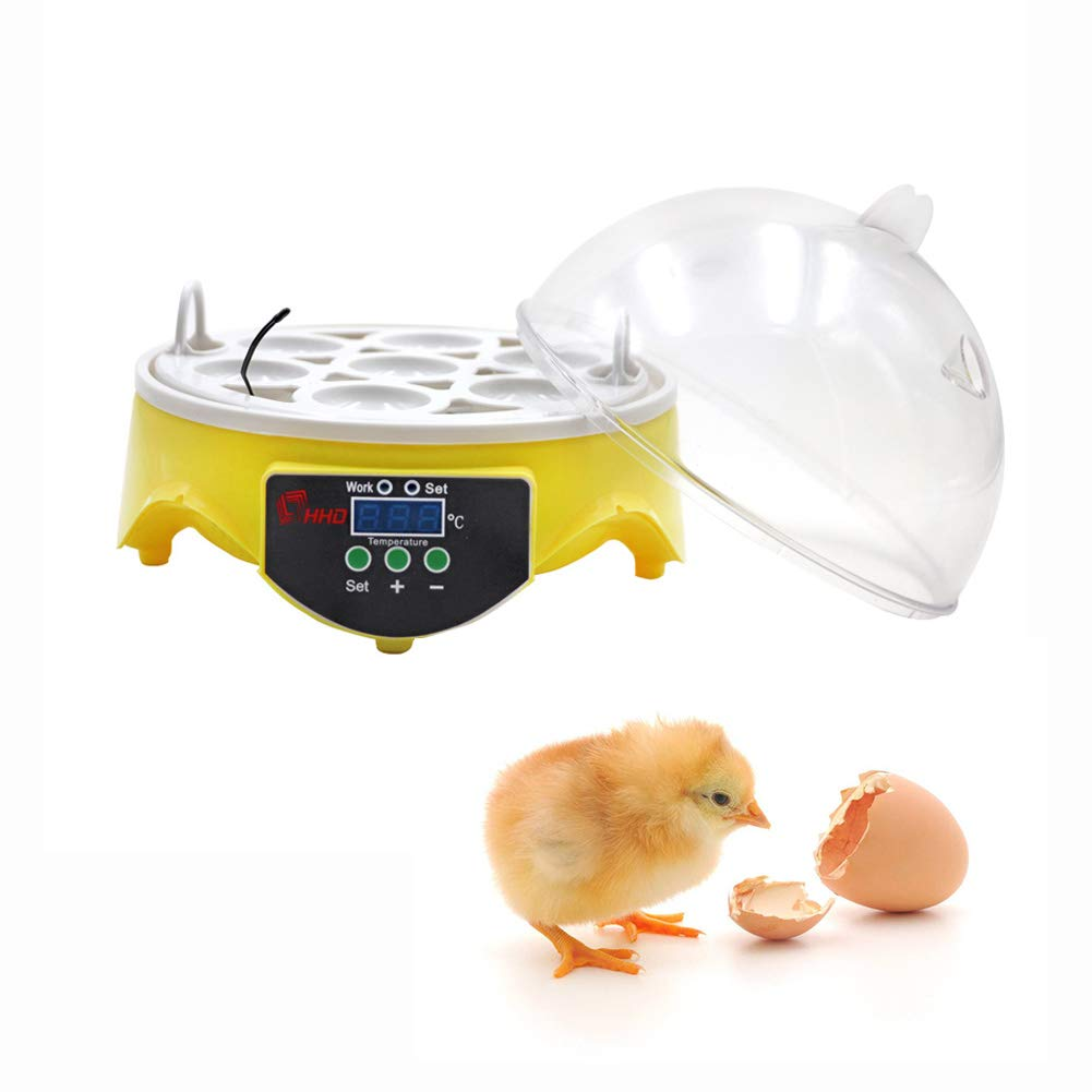 M.Z.A Mini Automatic 7 Egg Incubator Digital Chicken Poultry Hatcher Egg Hatcher Incubator with Automatic Temperature Control by M.Z.A (Image #3)