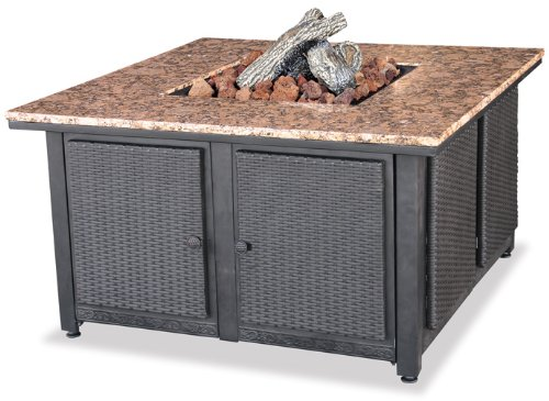 Endless Summer, GAD1200B, LP Gas Outdoor Firebowl with Granite Mantel (Propane Fire Pit Wicker compare prices)