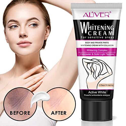 Underarm Whitening Cream,Lightening Cream Effective for Lightening & Brightening Armpit, Knees, Elbows, Sensitive & Private Areas, Whitens, Nourishes, Repairs & Restores Skin 60ml