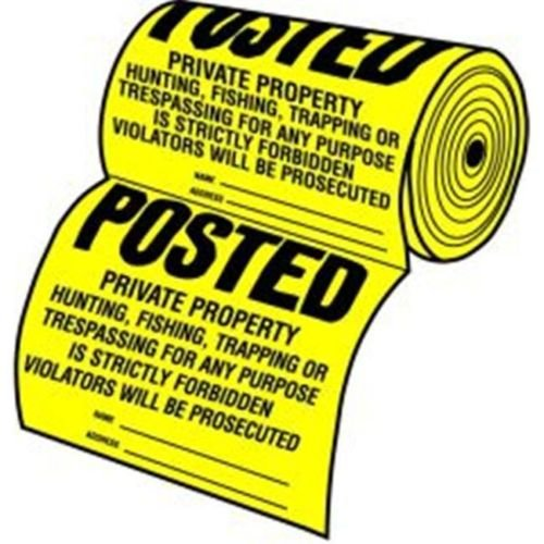 Hy-Ko TSR-100 100 Count Posted Sign Roll (Tyvek Sign)