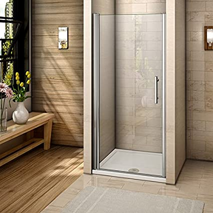 Perfect 900mm Frameless Pivot Shower Door Enclosure 6mm Safety Glass Reversible Shower Cubicle Door