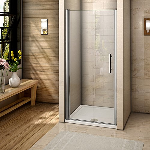 Perfect 700mm Frameless Pivot Shower Door Enclosure 6mm Safety Glass Reversible Shower Cubicle Door