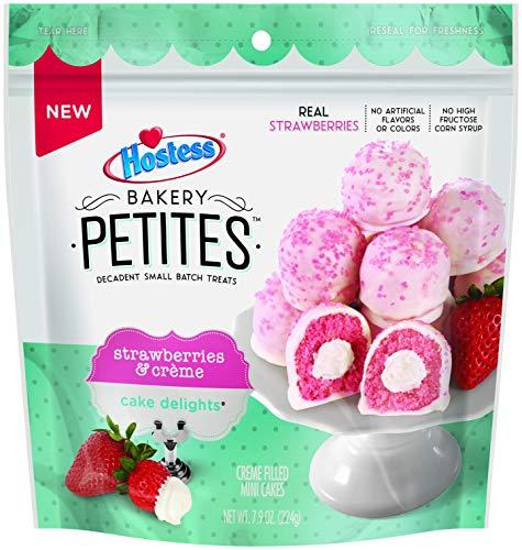 NEW! Hostess Bakery Petites Strawberry Creme Filled Mini Cakes 7.9 Oz, (1 Per Order)